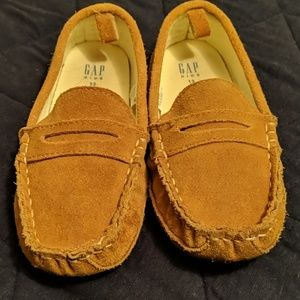 Boy's Suede Gap Loafers - Size 13